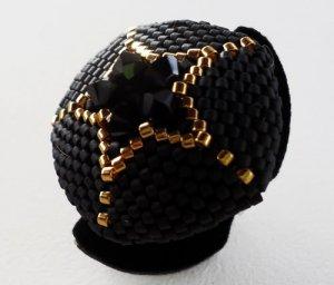 Handmade Beaded Star Ring