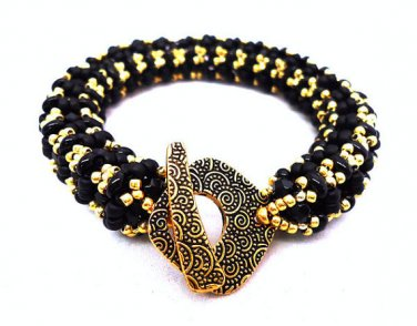 Handmade Beaded Ladies Bangle Bracelet