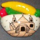 Handpainted Chile Indian Pot with Church (Santuario)