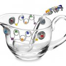 Glass Sauce Boat & Ladle