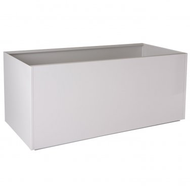 "Nice Rectangular White Aluminum Planter - 20""x46""x20"""