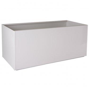 "Nice Rectangular White Aluminum Planter - 16""x46""x16"""