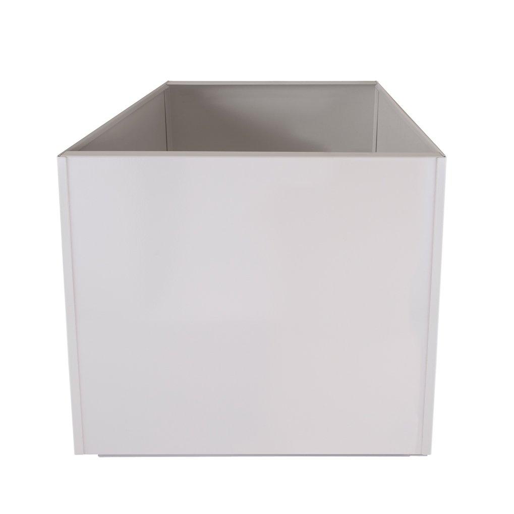 White Square 16 Inch Metal Planter Box Extra Large Aluminum