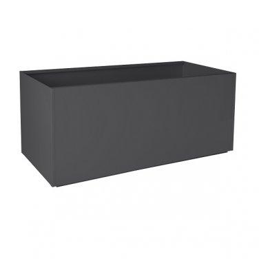 """Nice Rectangular Charcoal Gray Aluminum Planter - 16""""x46""""x16"""""""