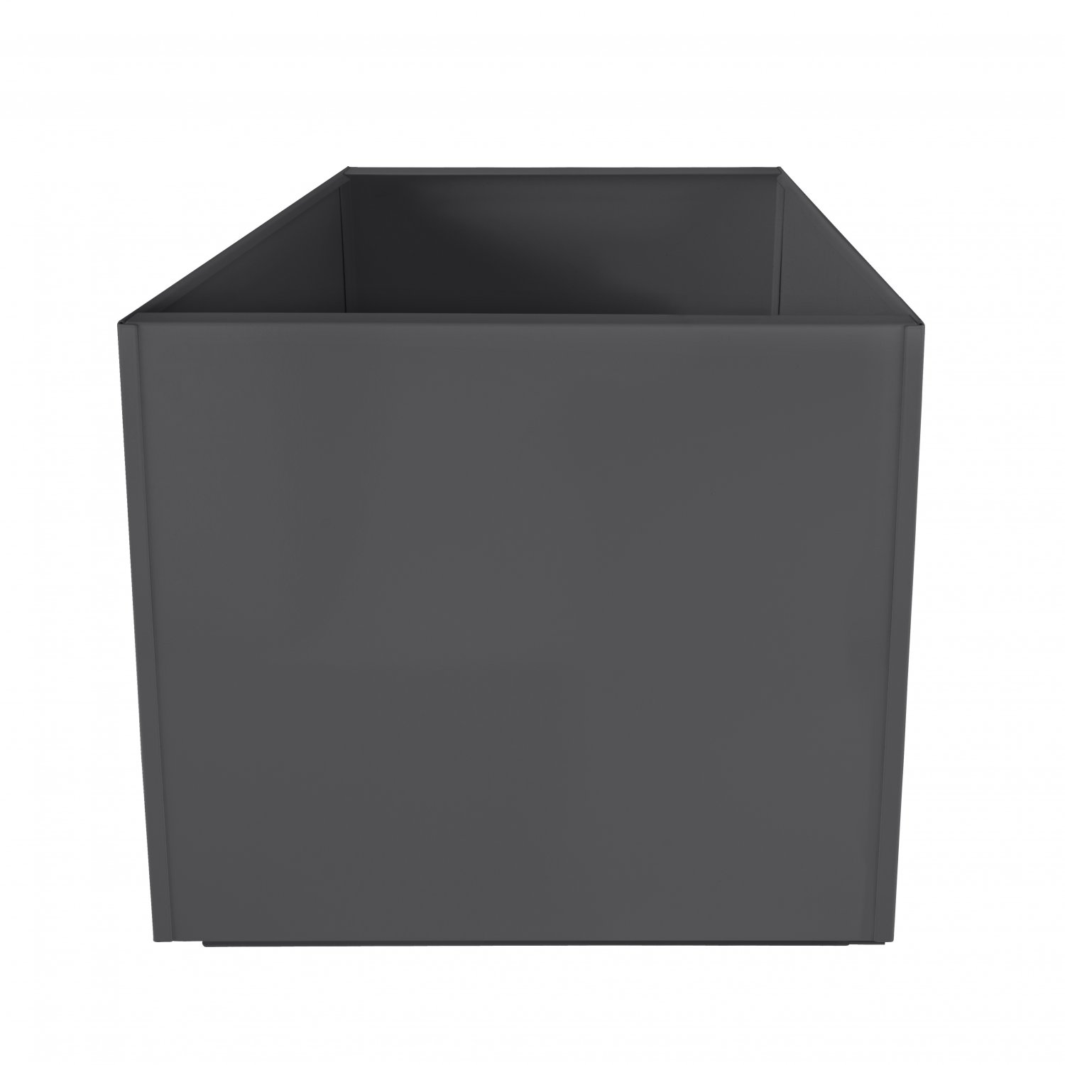 Charcoal Grey Square 16 Inch Metal Planter Box Extra Large Aluminum