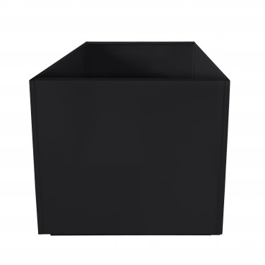 Black Square 20 Inch Metal Planter Box Extra Large Aluminum