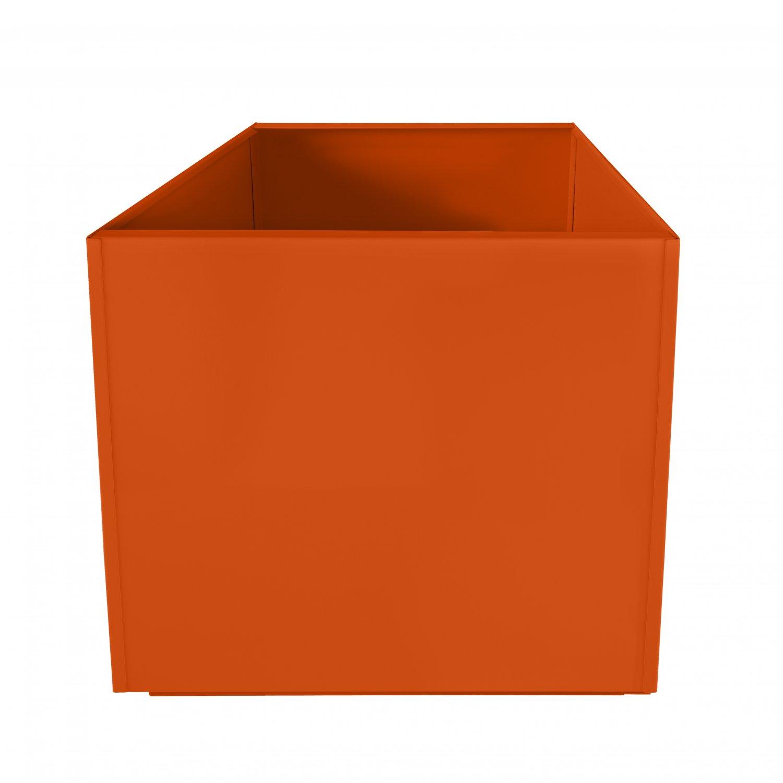 Orange Square 16 Inch Metal Planter Box Extra Large Aluminum