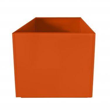 Orange Square 20 Inch Metal Planter Box Extra Large Aluminum