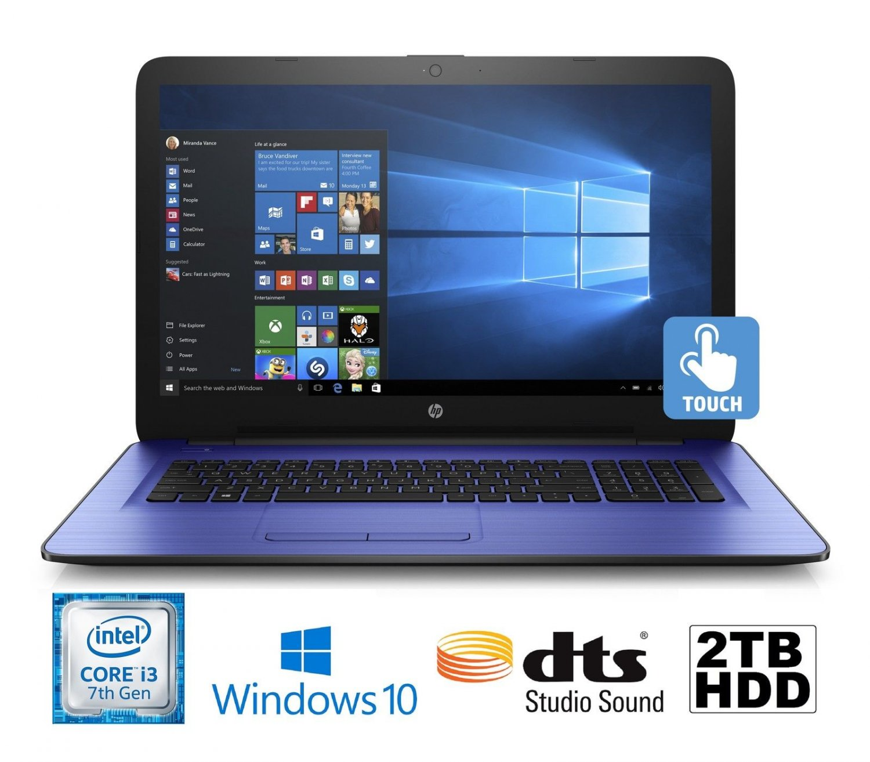 "HP Pavilion 17-X102DS 17.3"" i3-7100U 2.3GHz 2TB 8GB DVDRW Touchscreen Laptop"