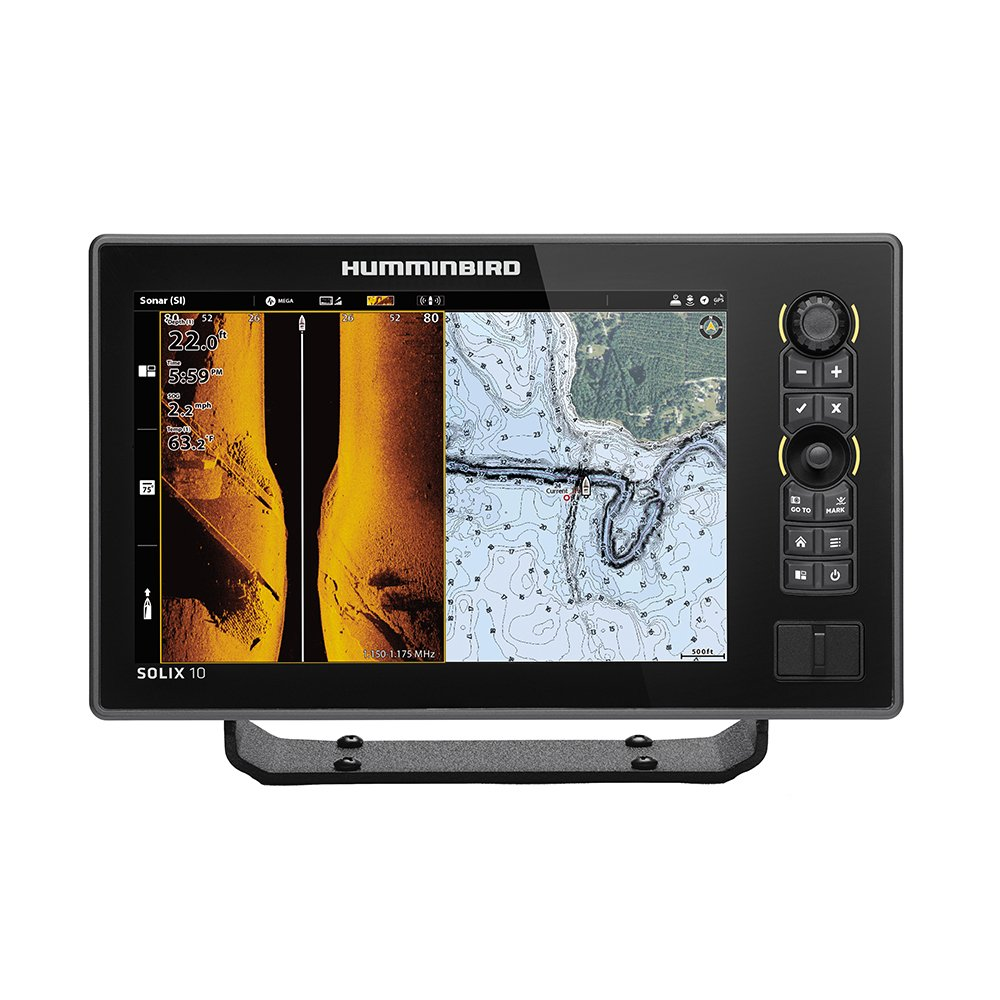 Humminbird SOLIX 10 CHIRP MEGA SI Fishfinder/GPS Combo G2 with Transom Mount Transducer