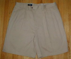 CALLAWAY GOLF Pro Spin Khaki PIMA Shorts Mens Sz 34 35 --MAKE AN OFFER!!