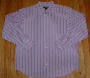 LANDS END Long Sleeved Button Front Shirt Top Blouse Womens Size 16 --MAKE AN OFFER!!