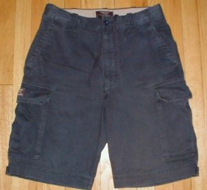 ABERCROMBIE & FITCH A&F Navy Cargo Shorts Mens Sz 31 32 --Make me an offer!!