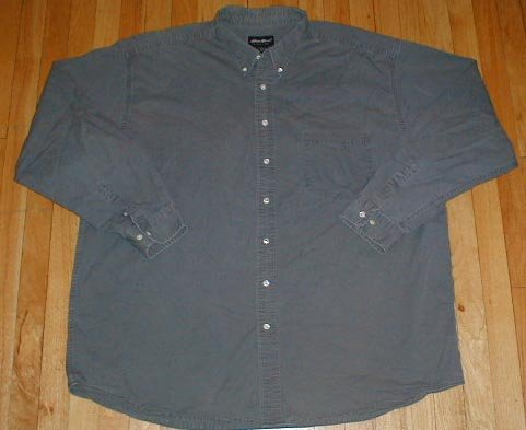 EDDIE BAUER Long Sleeved Button Front Shirt Mens 3XLT XXXL TALL --Make me an offer!!