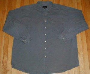 EDDIE BAUER Long Sleeved Button Front Shirt Mens 3XLT XXXL TALL --Make me an offer!!