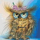 Fashion Owl. Cross Stitch Pattern. PDF Files.