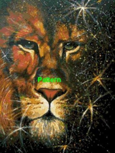 The Lion. Cross Stitch Pattern. PDF Files.
