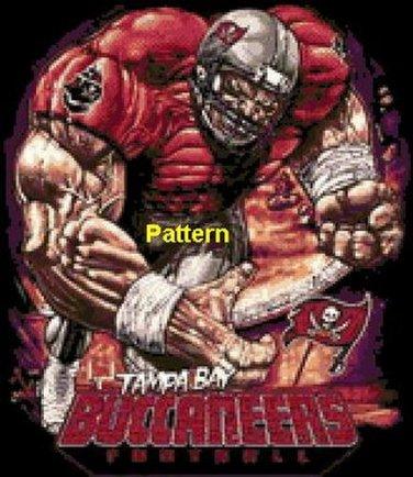 Tampa Bay Buccaneers Football Player. Cross Stitch Pattern. PDF Files.