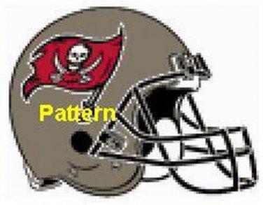 Tampa Bay Buccaneers Helmet #2. Cross Stitch Pattern. PDF Files.