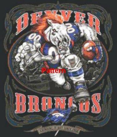 Denver Broncos Mascot #1. Cross Stitch Pattern. PDF Files.