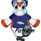 Denver Broncos Mascot #5. Cross Stitch Pattern. PDF Files.