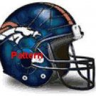 Denver Broncos Helmet #1. Cross Stitch Pattern. PDF Files.