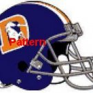 Denver Broncos Helmet #2. Cross Stitch Pattern. PDF Files.