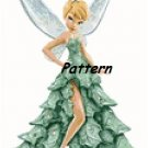 Tinkerbell in Christmas Dress. Cross Stitch Pattern. PDF Files.