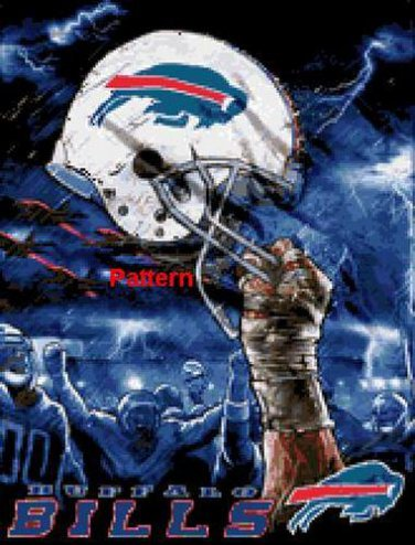 Buffalo Bills Helmet #2. Cross Stitch Pattern. PDF Files.
