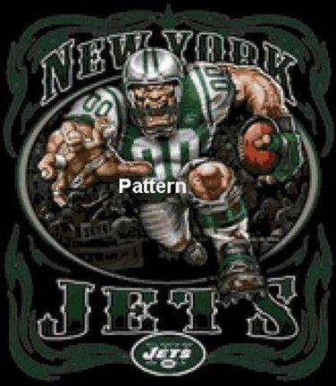New York Jets Mascot #3. Cross Stitch Pattern. PDF Files.