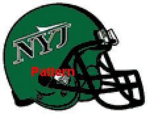 New York Jets Helmet #2. Cross Stitch Pattern. PDF Files.