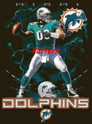 Miami Dolphins Mascot #3. Cross Stitch Pattern. PDF Files.