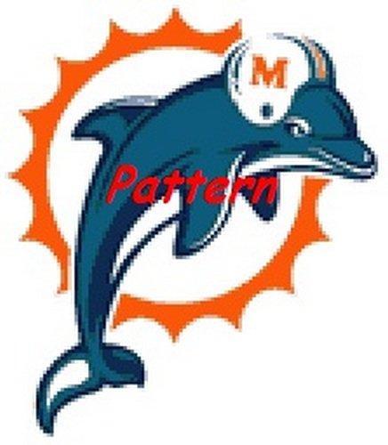 Miami Dolphins Mascot #5. Cross Stitch Pattern. PDF Files.
