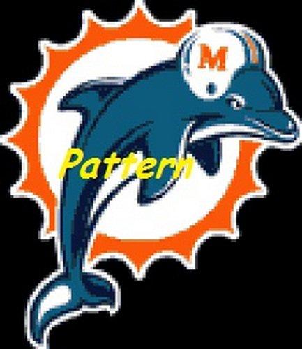 Miami Dolphins Mascot #11. Cross Stitch Pattern. PDF Files.