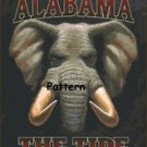 Alabama Crimson Tide #2. Cross Stitch Pattern. PDF Files.