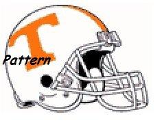 Tennessee Volunteers Helmet #1. Cross Stitch Pattern. PDF Files.