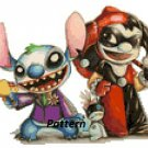 Joker and Harley Quinn / Lilo And Stitch. Cross Stitch Kit.