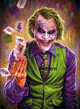Joker. Cross Stitch Kit.