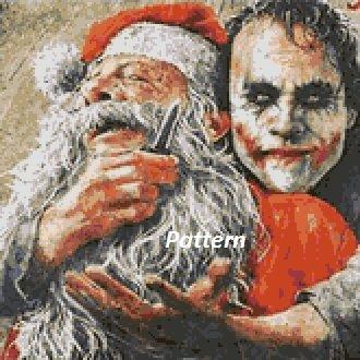 Joker and Santa. Cross Stitch Kit.