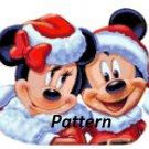 Christmas Minnie & Mickey Claus. Cross Stitch Kit.