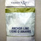 "Cordcraft Anchor line 3/16"" x 100'  4.8 mm x 30.5 mm Light Solid braid nylon"
