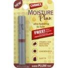 Carmex Sheer PLUM tint ultra hydrating lip balm .075 oz Moisture Plus lip balm