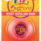 Deet Free Bugband insect Repelling Band PINK color Repels mosquitoes flies bugs