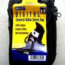 Digital Camera Video carry Bag DC-80 protection 021331865601 zip down BLACK NEW
