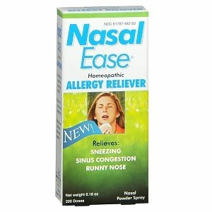 Nasal Ease Homeopathic allergy Reliever 0.18 oz ( 200 Dozes ) Nalsal Powder spray NEW EXP: 09/2014