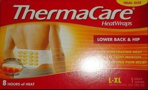 ThermaCare Heat Wraps Lower Back & Hip L-XL Therma Care Muscles Pain Relief 2015