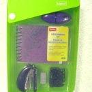 STAPLES School Supplies kit GREEN Great Gift 40784 stapler staples paper clips E
