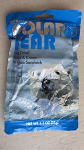 Bearly Cold Polar Bear Freeze Dried Cookies & Cream Ice Cream Sandwich 1.1 oz NE