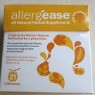 AllergEase All Natural Herbal Supplement 21 count Lozenges Flavored Honey Lemon