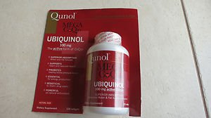 Qunol Mega CoQ10 100 mg Ubiquinol 120 Softgels Superior absorption water exp2015